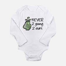 Never 2 Young Long Sleeve Infant Bodysuit
