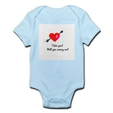I love you Marriage proposal Infant Bodysuit