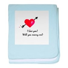 I love you Marriage proposal baby blanket