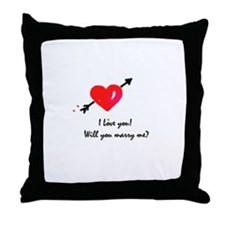 I love you Marriage proposal Throw Pillow