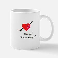 I love you Marriage proposal Mug