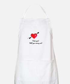 I love you Marriage proposal Apron