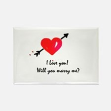I love you Marriage proposal Rectangle Magnet