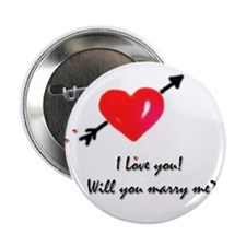 """I love you Marriage proposal 2.25"""" Button"""