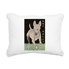 Pit Bull 8 Rectangular Canvas Pillow