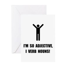 Adjective Verb Nouns Greeting Card