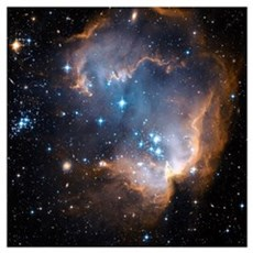 Starbirth region NGC 602 Framed Print