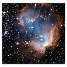 Starbirth region NGC 602 Poster