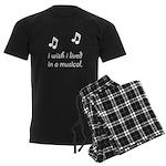 Live In Musical Men's Dark Pajamas