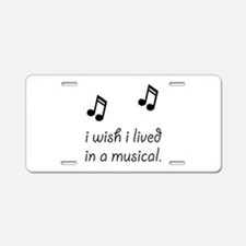 Live In Musical Aluminum License Plate