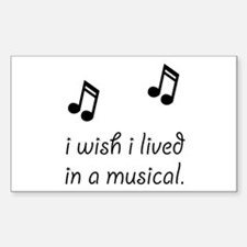 Live In Musical Decal