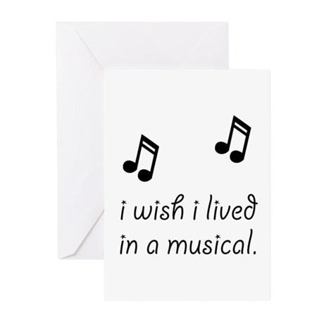 Live In Musical Greeting Cards (Pk of 10)