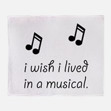 Live In Musical Throw Blanket