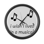 Live In Musical Large Wall Clock