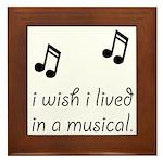 Live In Musical Framed Tile