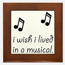 Live In Musical Framed Tile