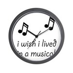 Live In Musical Wall Clock