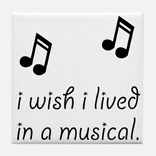 Live In Musical Tile Coaster
