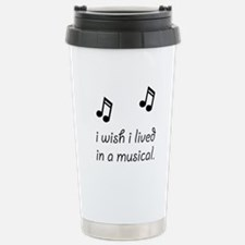 Live In Musical Stainless Steel Travel Mug