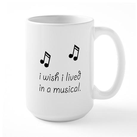 Live In Musical Large Mug