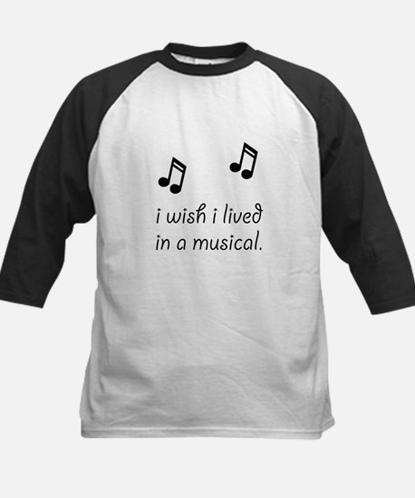 Live In Musical Kids Baseball Jersey