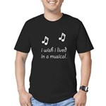 Live In Musical Men's Fitted T-Shirt (dark)