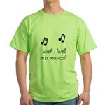 Live In Musical Green T-Shirt
