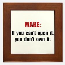 Make Motto Framed Tile