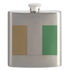 Flag of Cote Divoire Flask