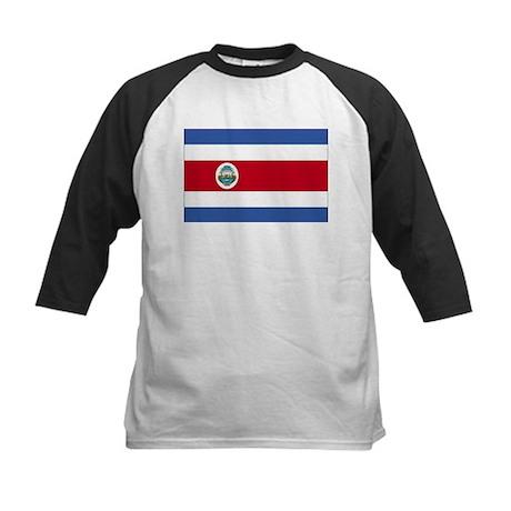 Flag of Costa Rica Kids Baseball Jersey