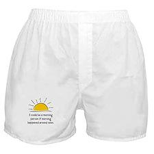 Morning Person Boxer Shorts