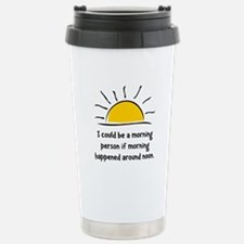 Morning Person Stainless Steel Travel Mug