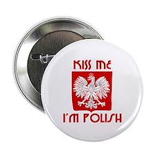 Kiss me, I'm Polish - Button