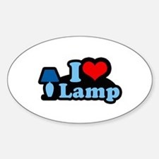 I heart lamp - Oval Decal