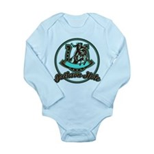 Jackson Hole Cowboy Mint Long Sleeve Infant Bodysu