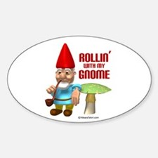 Rollin with my Gnome - Oval Decal