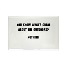 Outdoors Nothing Rectangle Magnet (100 pack)