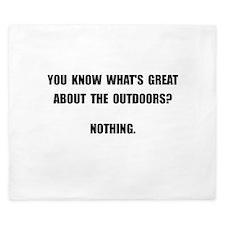 Outdoors Nothing King Duvet