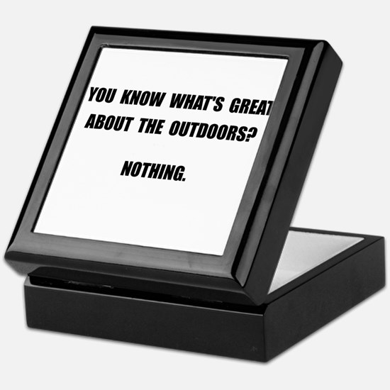 Outdoors Nothing Keepsake Box