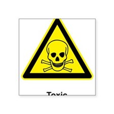 "Toxic Square Sticker 3"" x 3"""