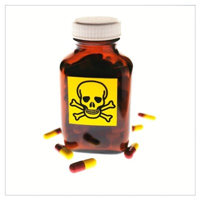 Toxic medication, conceptual image Canvas Art