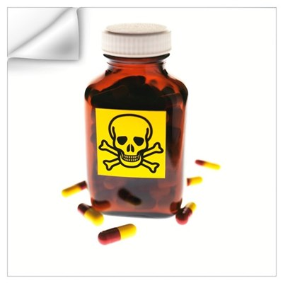 Toxic medication, conceptual image Wall Decal