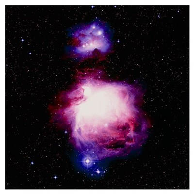 True-colour optical image of the Orion nebula Poster