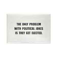 Political Jokes Elected Rectangle Magnet (10 pack)