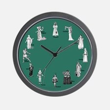 Shakespeare's Women Teal Wall Clock