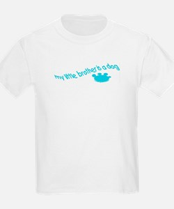 My little brother is a dog Kids T-Shirt