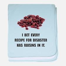 Recipe For Disaster Raisins baby blanket