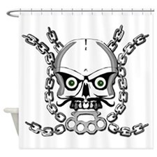Brass knuckle skull 5 Shower Curtain