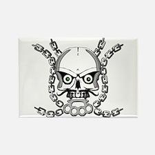 Brass knuckle skull 5 Rectangle Magnet