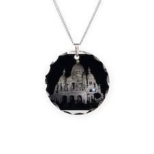 sacre coeur Necklace Circle Charm
